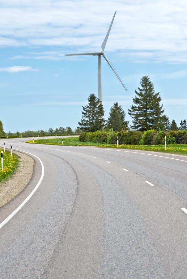 förnybar turbin för energi arkivfoton