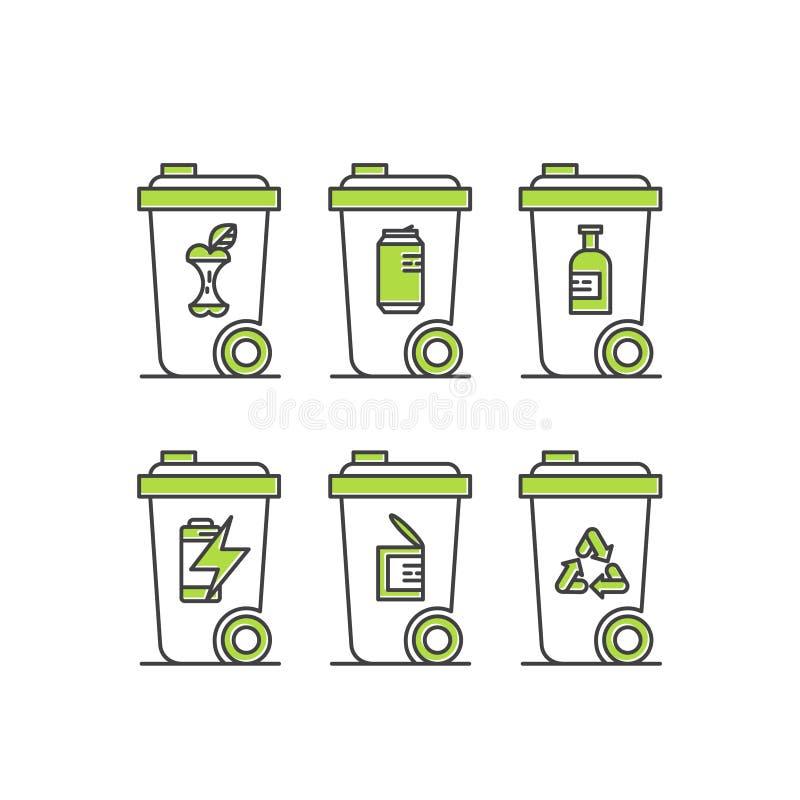 Förnybara energikällor hållbar teknologi, återvinning, ekologilösningar vektor illustrationer