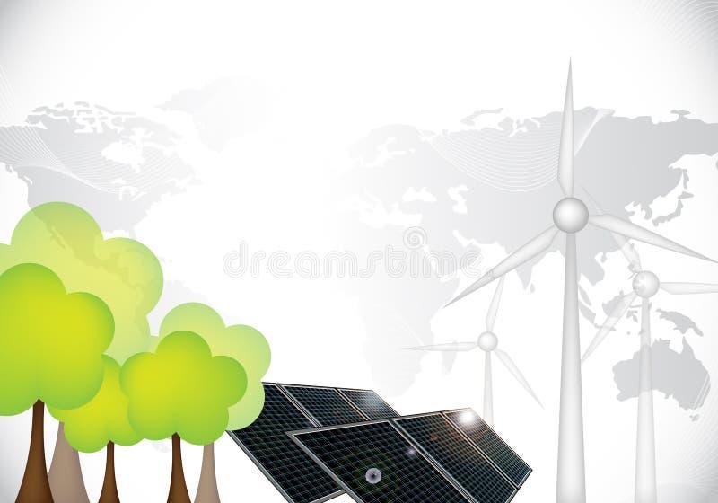 förnybara resurser royaltyfri illustrationer