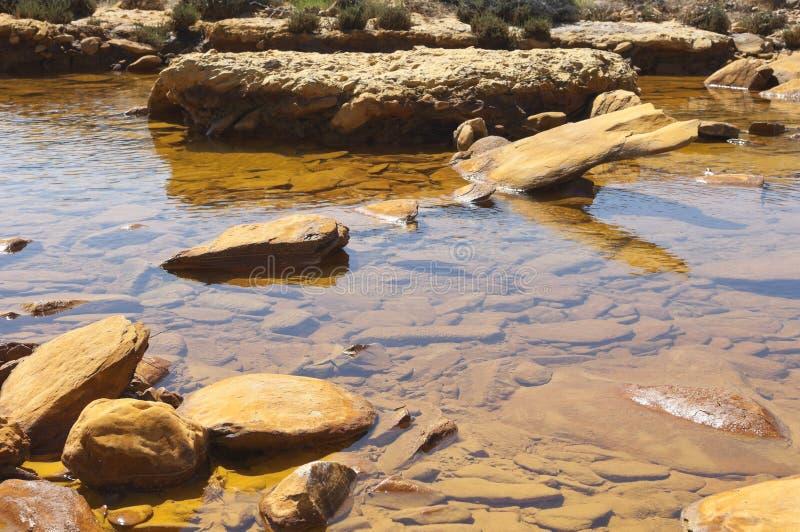 Förorenad flod royaltyfri fotografi