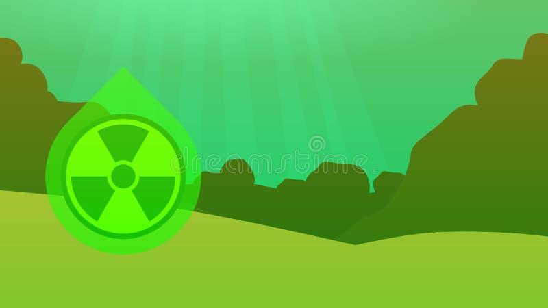 Förorenad miljövektorbakgrund royaltyfri illustrationer