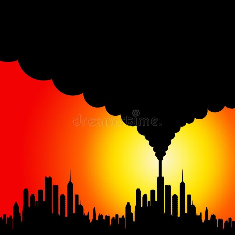 Förorening royaltyfri illustrationer