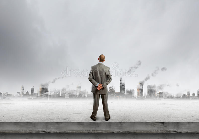 förorening för fabrik för luftbakgrund blå royaltyfria foton