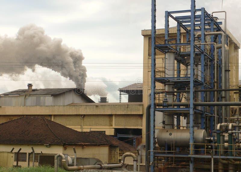 förorening för tung industri royaltyfri fotografi