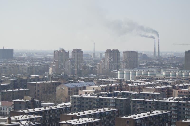 Förorening i Asien royaltyfri fotografi