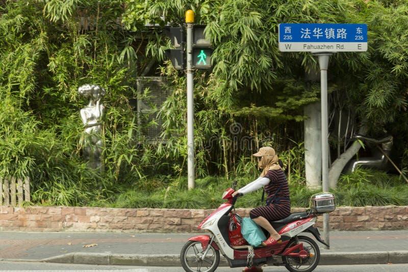 Förorening i Shanghai, Kina arkivfoton