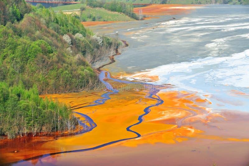 föroreningvatten royaltyfri bild