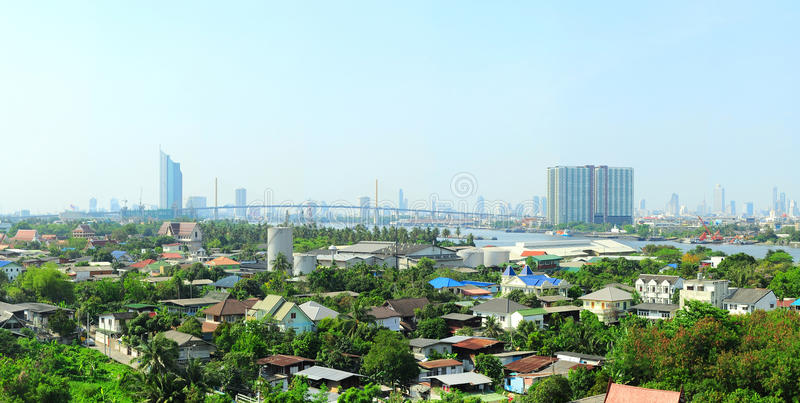 Förort av Bangkok arkivfoton