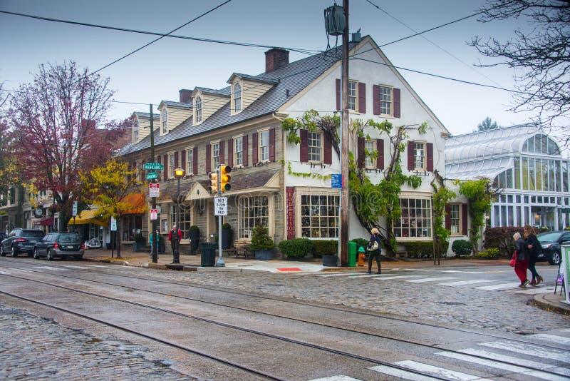 Förort av Philadelphia i nedgången arkivfoto
