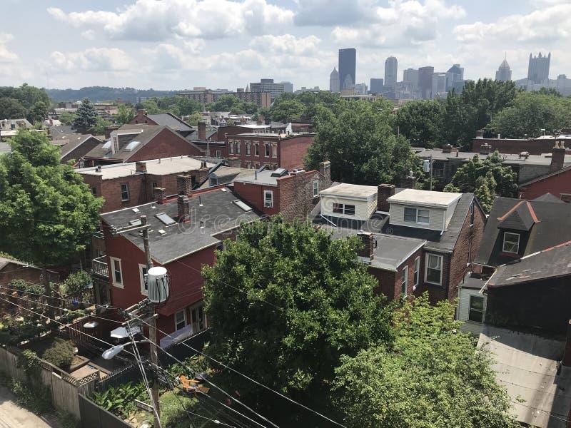 Förorts- Pittsburgh arkivfoto
