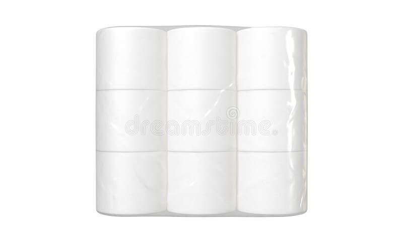 Förpacka för toalettpapper royaltyfri illustrationer