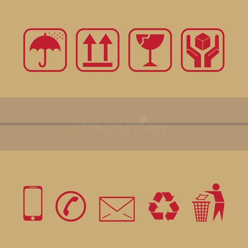 Förpackande symbol royaltyfri illustrationer