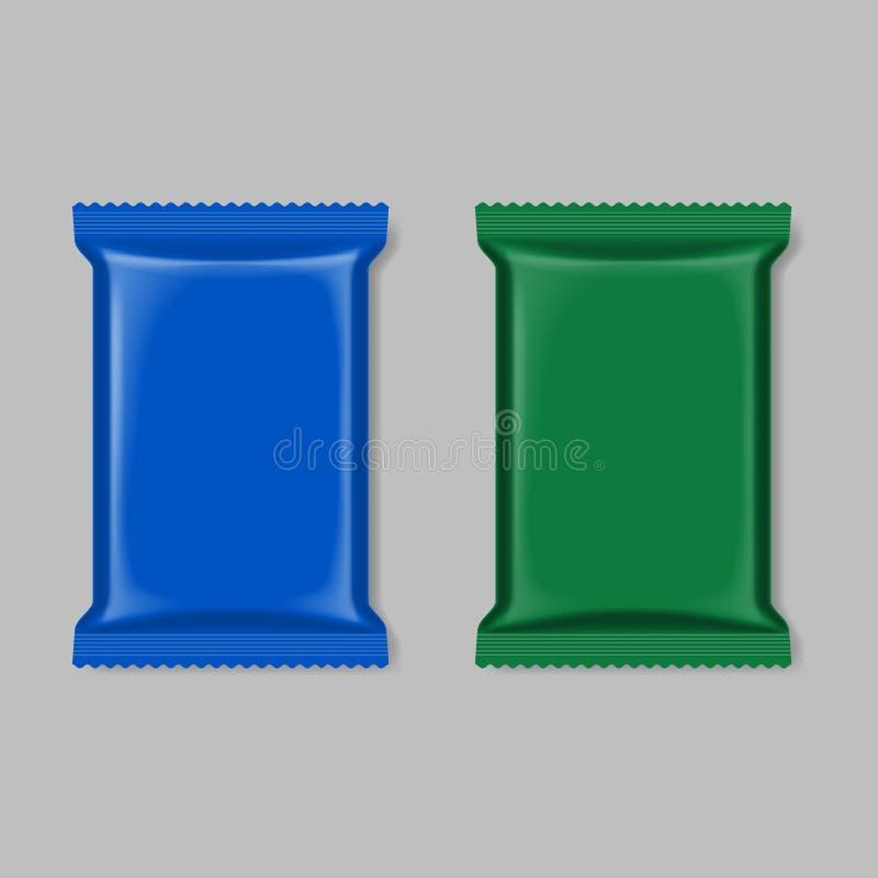 Förpackande uppsättning för polymer royaltyfri illustrationer