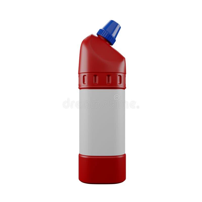 Förråd av röda plastflaskor royaltyfri bild