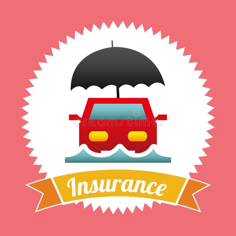 Försäkringdesign vektor illustrationer