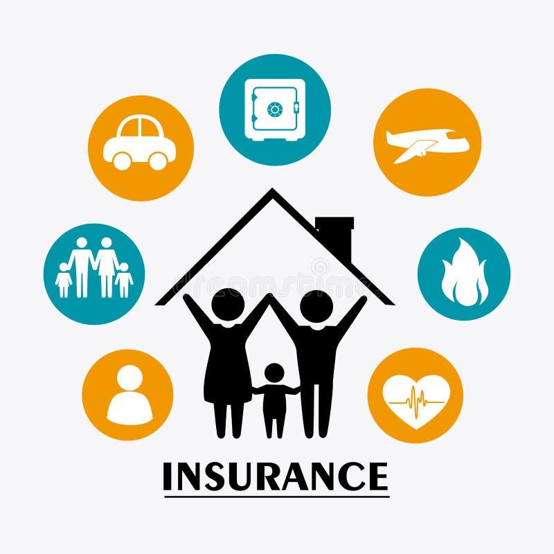 Försäkringdesign stock illustrationer