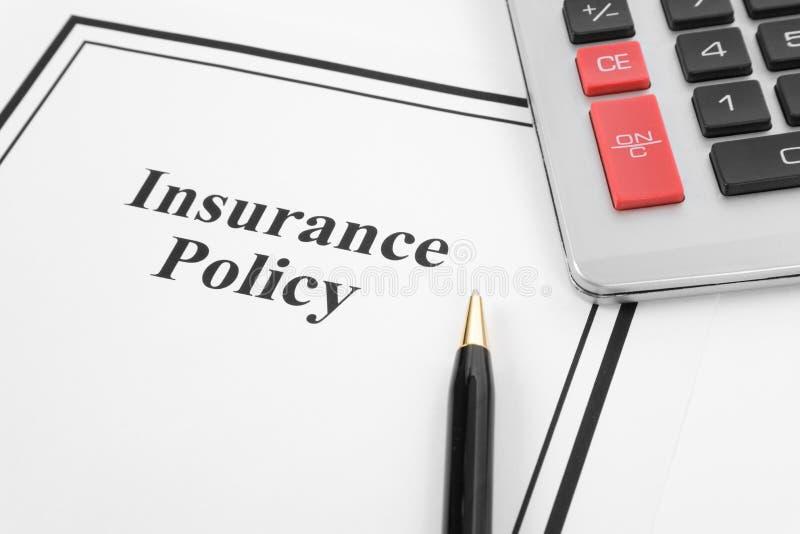 försäkringpolitik arkivbild