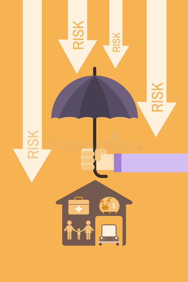 Försäkringräkningsbegrepp royaltyfri illustrationer