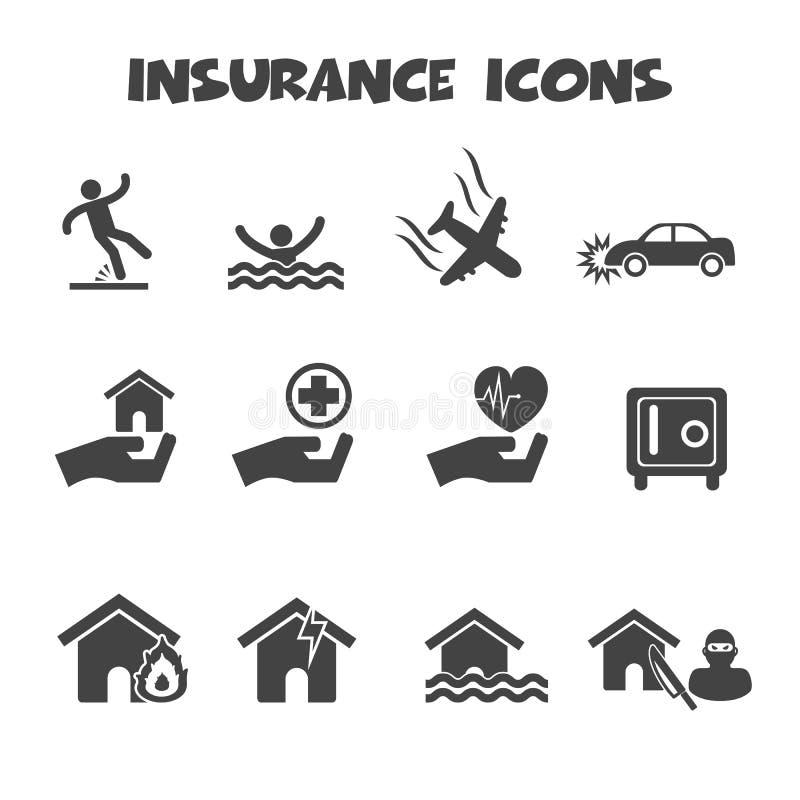 Försäkringsymboler royaltyfri illustrationer