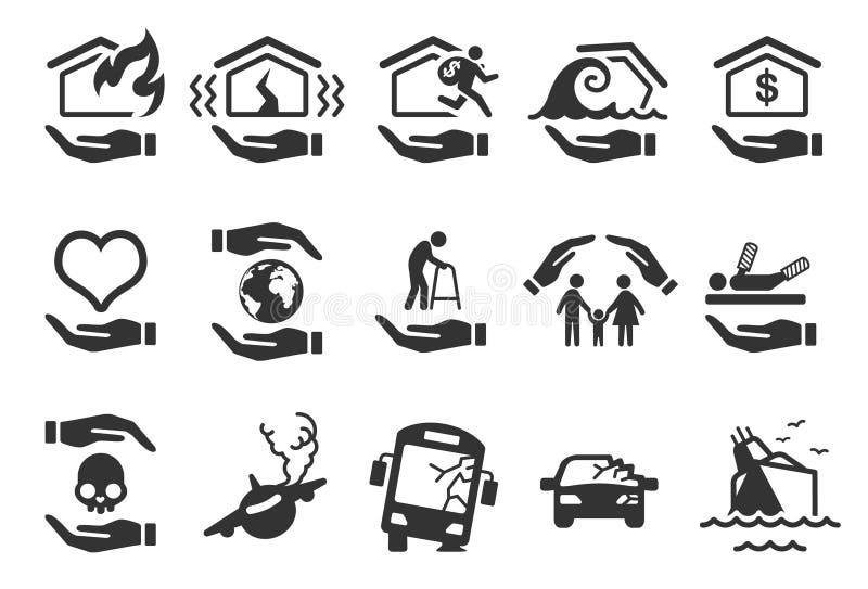 Försäkringsymboler - illustration royaltyfri illustrationer