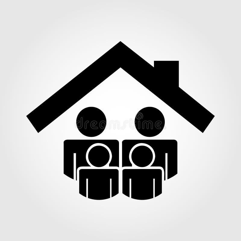 Försäkringsymbolsdesign stock illustrationer
