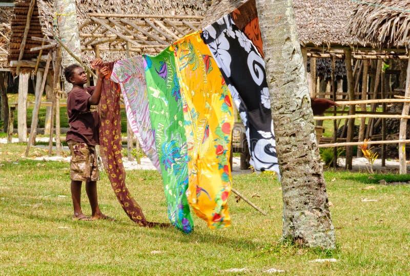 Försäljare - Espiritu Santo royaltyfri bild