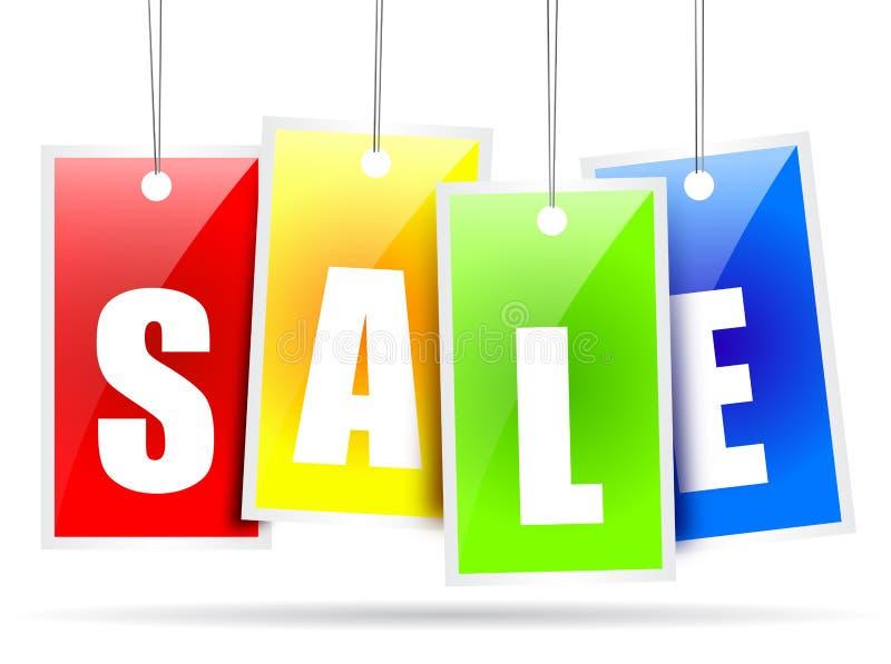 försäljning royaltyfri illustrationer