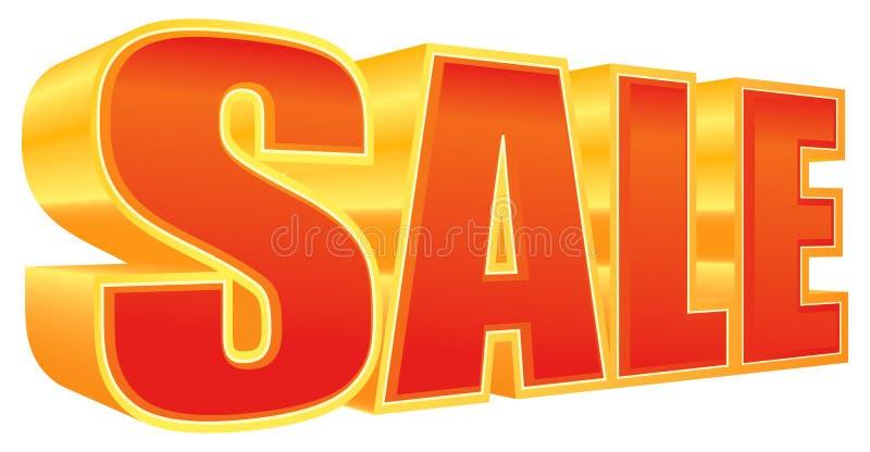 försäljning 3d royaltyfri illustrationer