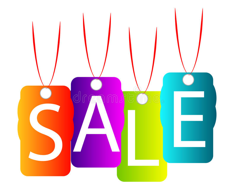 försäljning vektor illustrationer