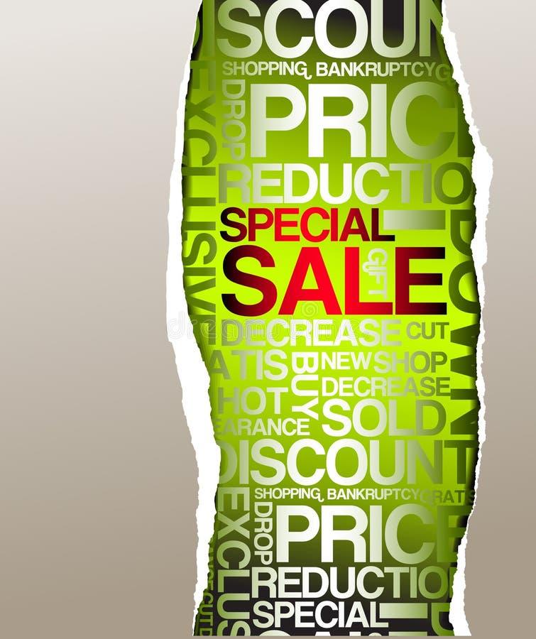 försäljning för annonseringrabattgreen royaltyfri illustrationer