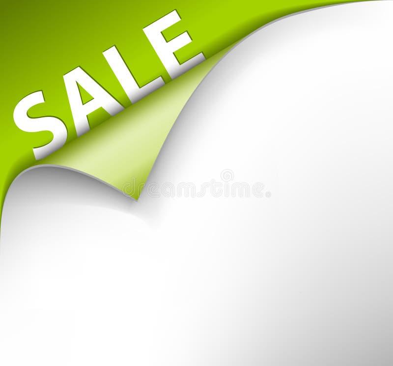 försäljning för bakgrundshörngreen stock illustrationer