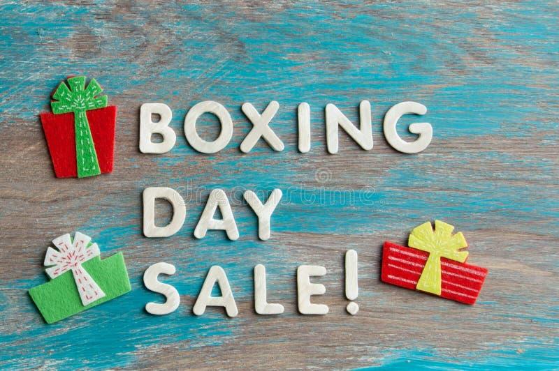 Försäljning för boxningdag arkivfoton