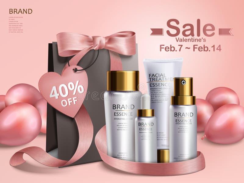 Försäljning för dag för valentin` s stock illustrationer