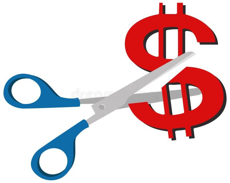 försäljning för dollarbildpengar vektor illustrationer