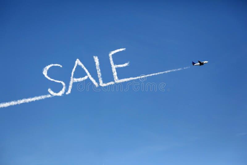 försäljning för flygplanoklarhetskopia arkivfoto