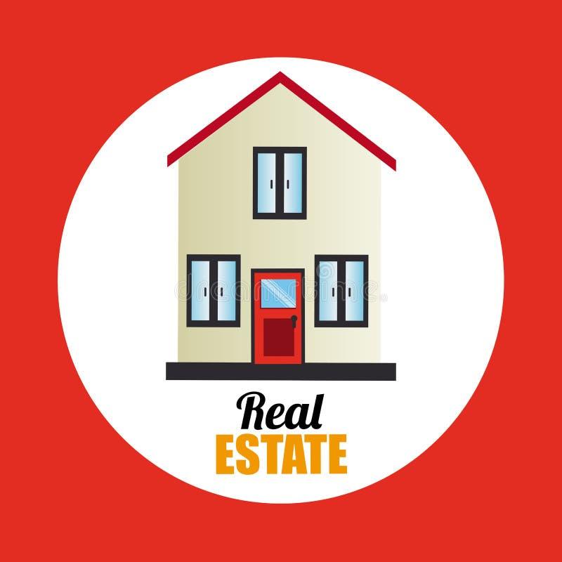 försäljning för hus för designgodsutgångspunkt verklig royaltyfri illustrationer