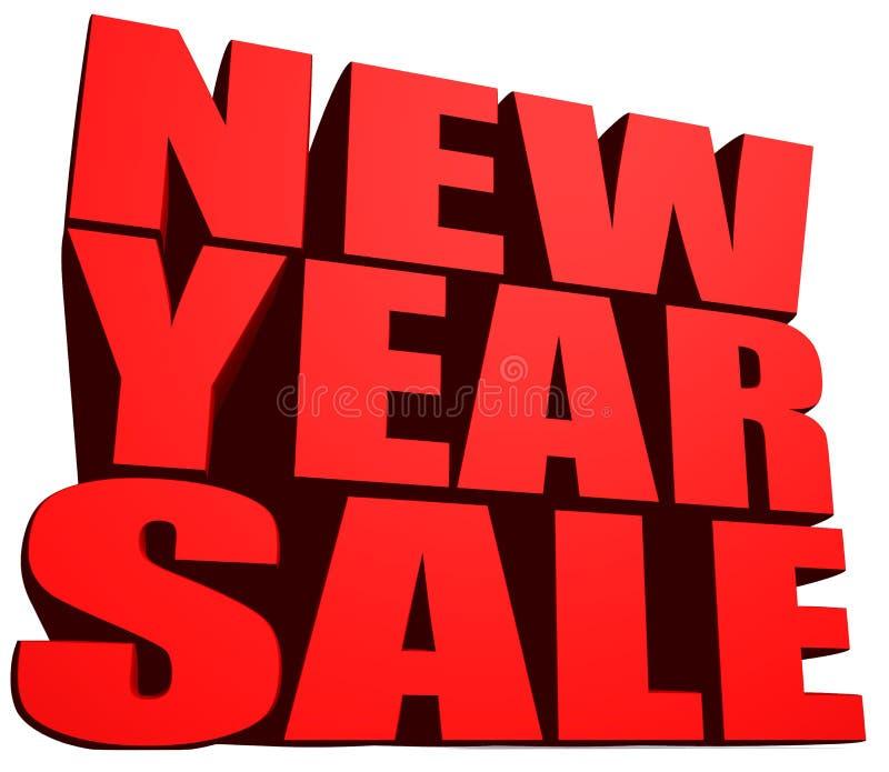 Försäljning för nytt år royaltyfri illustrationer