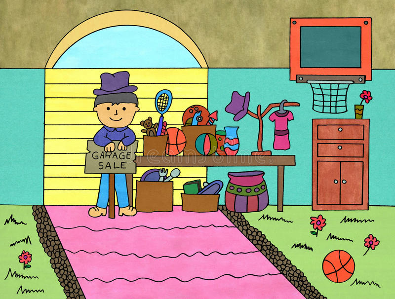 Försäljning hemifrån royaltyfri illustrationer