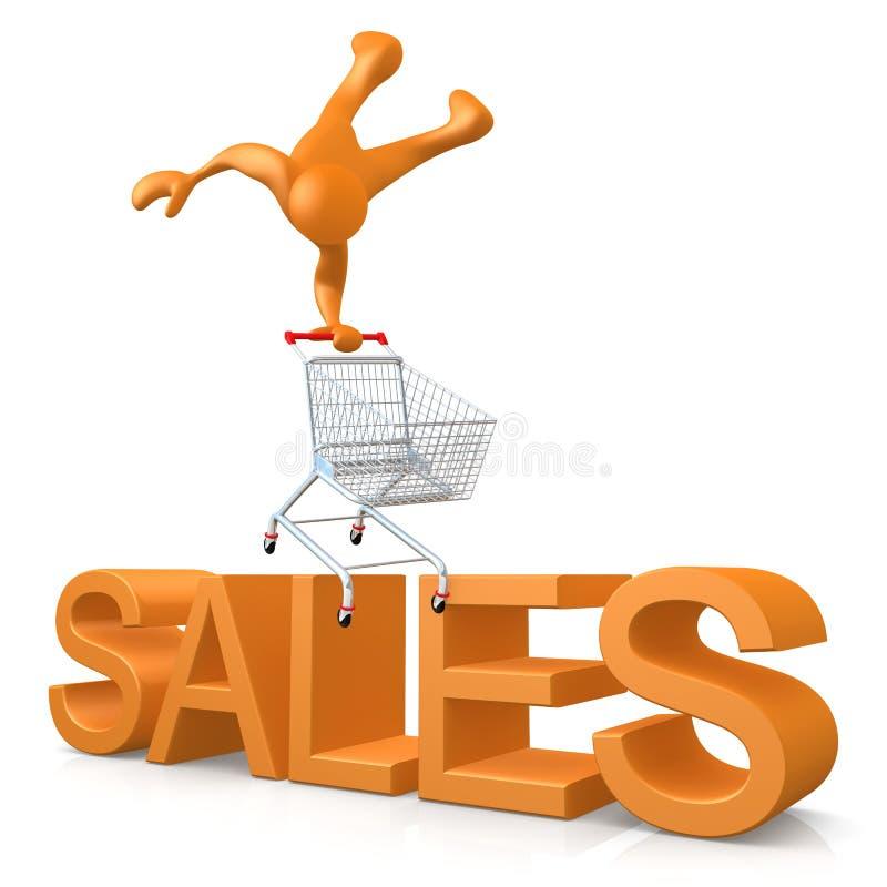 försäljningar stock illustrationer