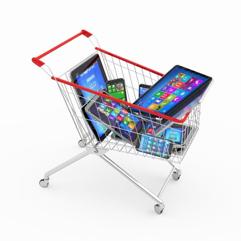 Försäljningar av ny teknikbegreppet royaltyfri illustrationer