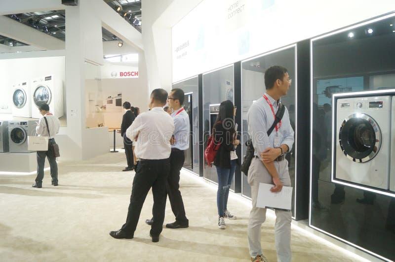 Försäljningar för utställning för hem- anordningar för BOSCH arkivfoto