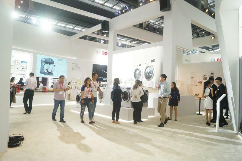 Försäljningar för utställning för hem- anordningar för BOSCH arkivfoton