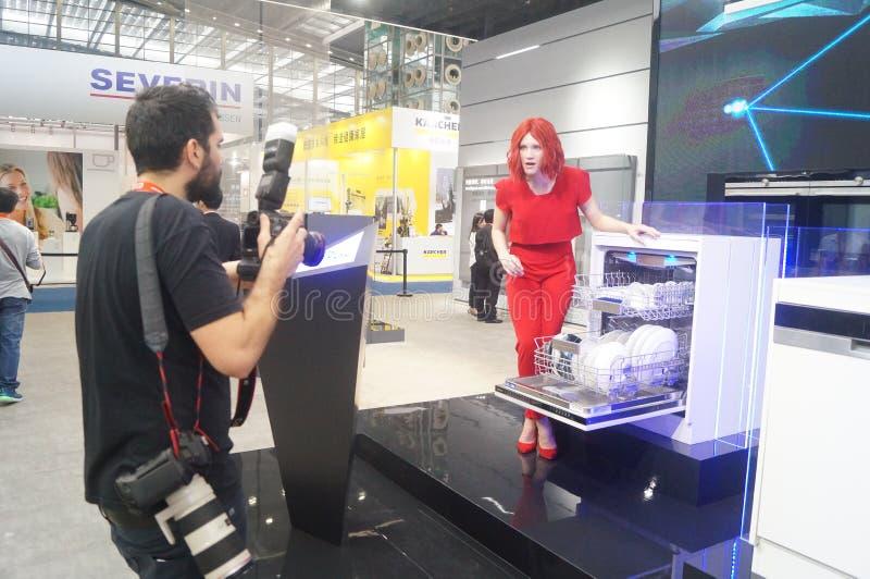 Försäljningar för utställning SIEMENS för hem- anordning fotografering för bildbyråer