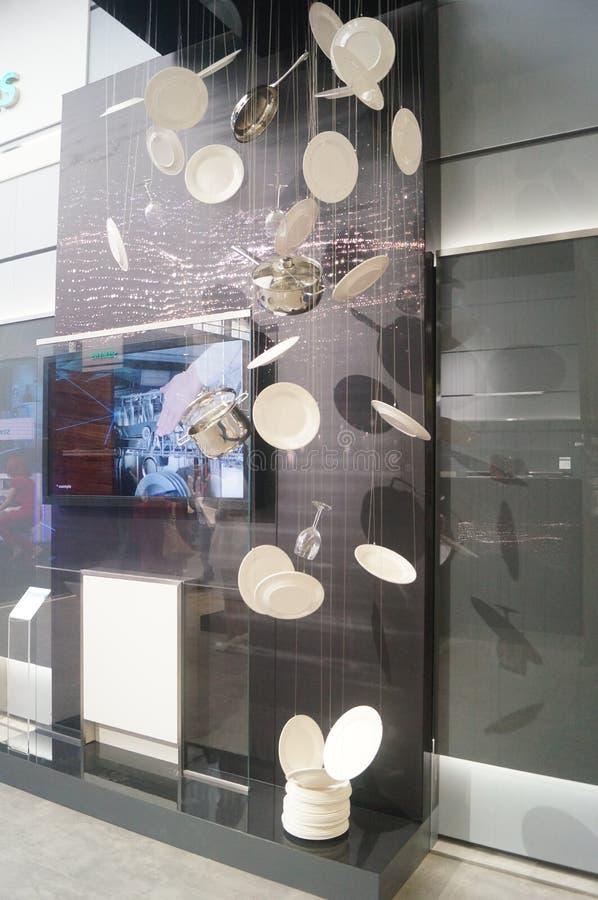 Försäljningar för utställning SIEMENS för hem- anordning arkivfoton