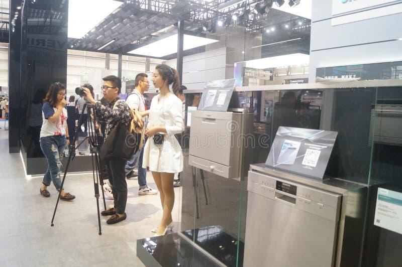 Försäljningar för utställning SIEMENS för hem- anordning royaltyfri foto