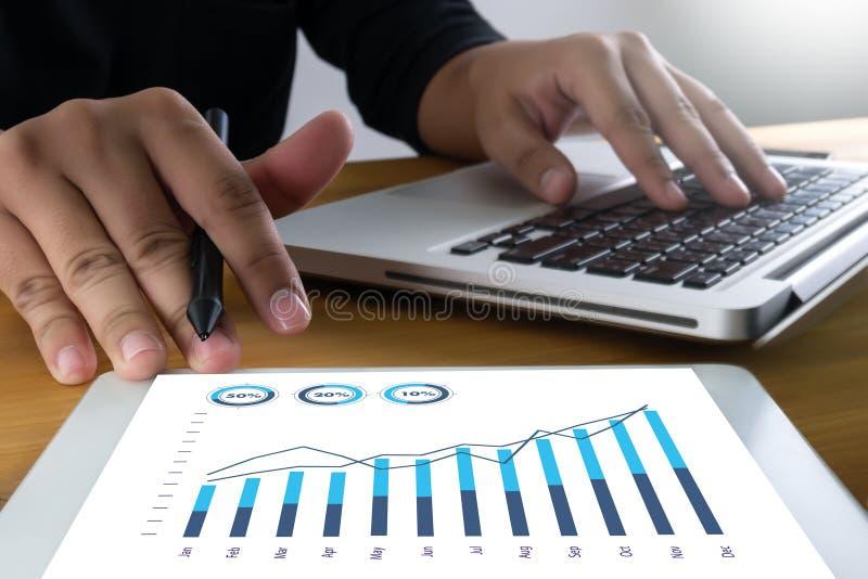 Försäljningar många aktier Co för intäkt för diagram- och grafaffärsförhöjning arkivbilder