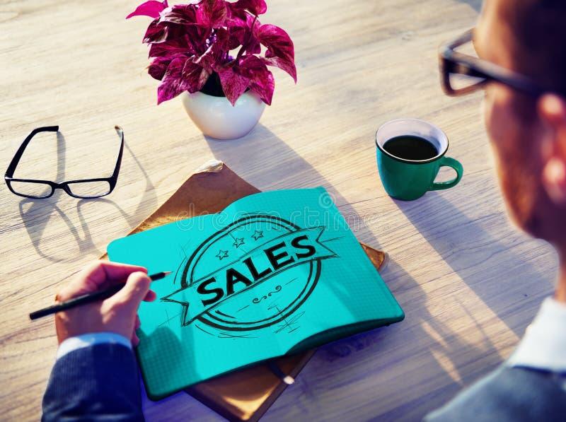 Försäljningar som säljer begrepp för rabattkommersmarknadsföring arkivfoton