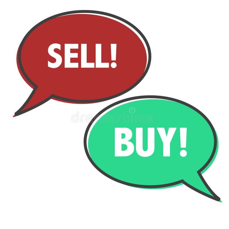 Försäljnings- och köpbegrepp illustraion royaltyfri illustrationer