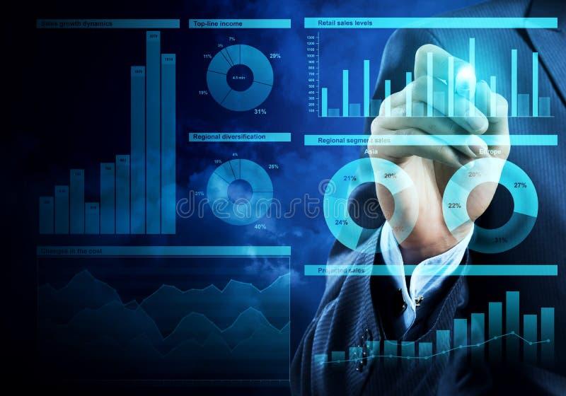 Försäljningsanalys och rapport royaltyfri bild