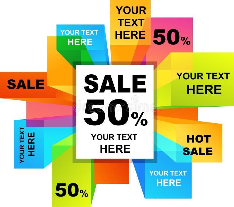 Försäljningsbakgrunder vektor illustrationer